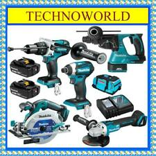 MAKITA 18V 5.0Ah BRUSHLESS 5PC COMBO KIT DLX5027T◉HAMMER-DRILL◉GRINDER◉SAW◉DRIVE