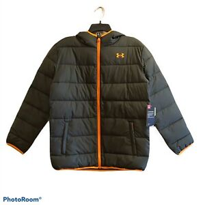 Under Armour NWT Storm Coldgear Pronto Puffer Jacket Youth XL YXL Baroque Green