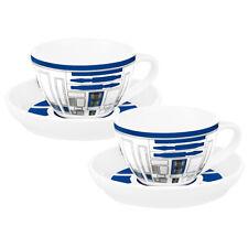 Star Wars R2-D2 Design Set Of 2 Ceramic 220ml Tea Cup & Saucer Set New In Box