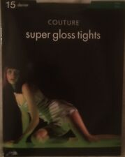 Couture Super Gloss Tights Pantyhose Black Small