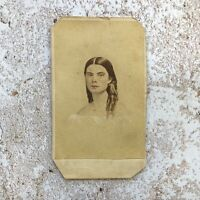 CDV Carte de Visite of Beautiful Woman Tinted Victorian Photo