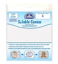 DMC DC90 Water Soluble Cross Stitch Canvas, 8 by 8-1/2-Inch, White, 14 Count