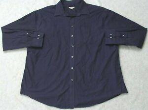 Merona Purple Pocket Dress Shirt Long Sleeve Man's Mens 2XL 18-18.5 Size XXL Top