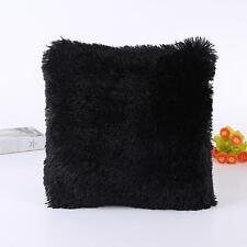 Fluffy Plush Square Pillow Case Sofa Waist Throw Cushion Cover Home Decor