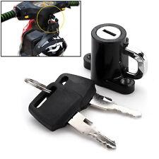 Universal Motorcycle Motorbike Bike Helmet Lock Hanger Hook & 2 Keys Black US