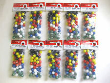10 SETS 60 ct.CHINESE CHECKER SOLID COLOR MARBLES WAHOO AGGRAVATION REPLACEMENT