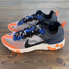 New Deadstock Nike Blue & Orange React Element 87 Shoes Men's 11.5 US AQ1090-004