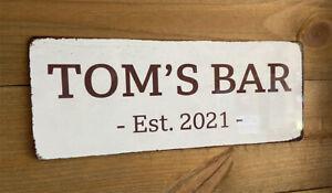 Custom Bar Sign - Plaque Metal Tin - Man Cave Shed Garage Home Pub - Funny