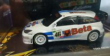 1:43 Rossi / Cassina Ford Focus RS WRC BETA Monza RAC Rally 2007 Minichamps.