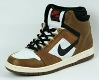 Nike Air Force II 624006 101 Mens Shoes White Brown Retro Basketball SZ 11.5 DS