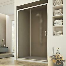 SHOWER DOOR CUBICLE SCREEN STIPPLED GLASS SLIDING DOOR 1300 MM FIXED PANEL H1850