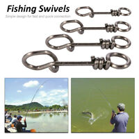 50/100Pcs Carp Fishing Clip Swivel Snap Link Quick Change Connector Tackle Hook