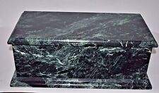 "GREEN ITALIAN 3/4"" THICK MARBLE ~ Custom Hand Made ~ CIGAR HUMIDOR Large"