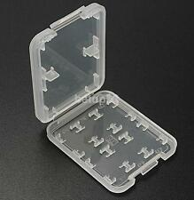 8 Slots Plastic Storage Holder Carrying Box Case For Micro SD MS Memory Card