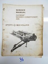 SPERRY NEW HOLLAND 495 HAYBINE MOWER CONDITIONER SERVICE REPAIR  MANUAL