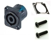 Neutrik NL4MP 4 Pole Speakon Connector. Chassis Mount. With Fittings. Pack of 4.