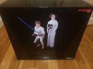 Kotobukiya ARTFX+ Star Wars Luke Skywalker and Princess Leia