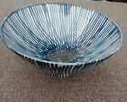Antique Asian Cobalt Blue 4.5' Bowl Signed Estate Ceramic/porcelain