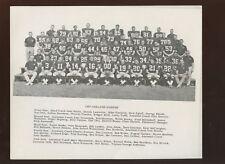 1967 AFL Football Oakland Raiders Team 8 X 10 Photo
