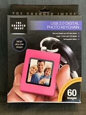 Sharper Image USB 2.0 Digital Photo Keychain-Rechargeable Battery-Holds 60 Pics