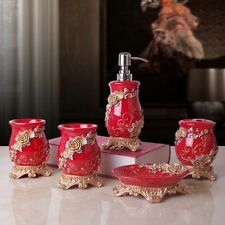 Miraculous Red Bath Accessory Sets For Sale Ebay Home Interior And Landscaping Fragforummapetitesourisinfo