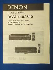Denon Dcm-440 Dcm-340 Owner Operating Manual Factory Original The Real Thing