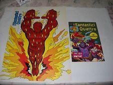 FANTASTICI QUATTRO N. 144 CON POSTER MANIFESTO  EDIZIONE CORNO 1976 GADGET