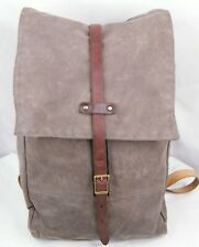 Archival Clothing Rucksack Waxed Cotton Duck Canvas Leather Backpack Olive Rare