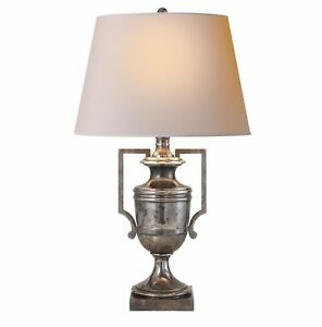 Visual Comfort E. F. Chapman Regency Urn Table Lamp In Sheffield Silver CHA8355