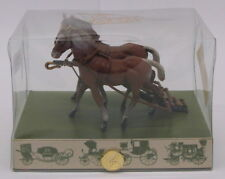Brumm 1/43 Scale BH01 - Equestrian Pair Of Horses For Carriages