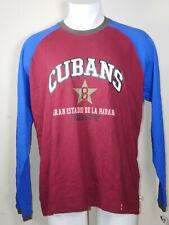 NEW Cuba Baseball Shirt Gran Estadio de Habana Red Long Sleeve LARGE NWT