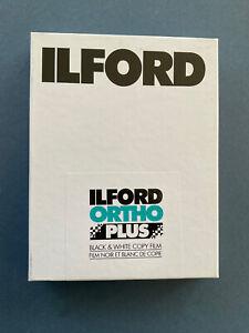 FP4 125 (4x5) sheet film box of 25 sheets Ilford Ortho-Plus Black And White Copy