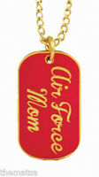 AIR FORCE MOM LOGO PINK AND GOLD  MILITARY  DOG TAG
