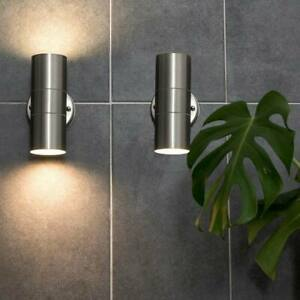 Two Pack Double Up Down Wall Outdoor Exterior GU10 LED Light Lamp Sconce IP65