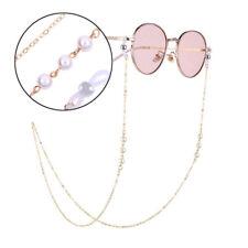 Catenine per occhiali da vista per donna Catene in acrilico nero Catene Catenelle per occhiali da vista antiscivolo Cinturino per occhiali da lettura Corda nera