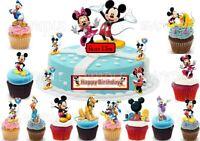 Mickey Minnie Maus Eßbar Muffin Torten-Bild-Aufleger Party Deko Neu Geburtstag