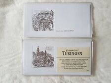 7 x Stationary Notelets/Cards depicting German Town Scenes ~ Tubingen