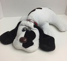 Tonka 1985 Pound Puppy 18� Plush Stuffed Animal White/Brown Spots Red Collar