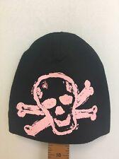Pink Axle Baby Beanie Skull Cap Rhinestone 0-6 Months Hat Infant Cotton USA