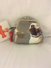 Fuzzy Nation Pug Dog Coin Purse - Brand New