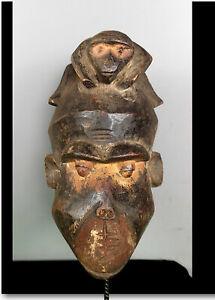 Old Tribal Bulu Monkey 2 Face Mask  ---   Cameroon