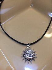 Sun And Moon Corded Necklace