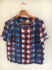 Topshop Size 10 Blue Red Check <T16991