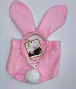 Dog Fashion Pet Halloween Costume Size M/L Pink Rabbit  Bunny New