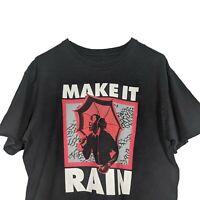 Nike Jordan Make It Rain Black Short Sleeve T Shirt - Mens Large
