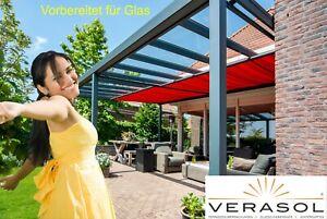 VERASOL Greenline Terrassendach 600x300, vorbereitet für Glas - Made in Germany