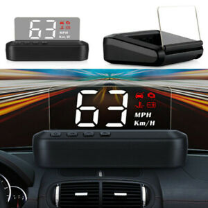 Car Universal Digital Speedometer HUD Head Up OBD2 MPH/KM/h Overspeed Warning