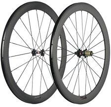 700C 50mm Biciclette Ruote Carbonio Anteriore e posteriore Ruote Novatec 271 Hub