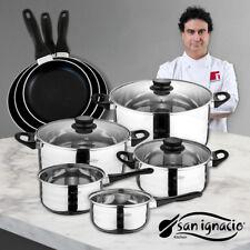 San Ignacio juego 3 sartenes Batería cocina 8 piezas