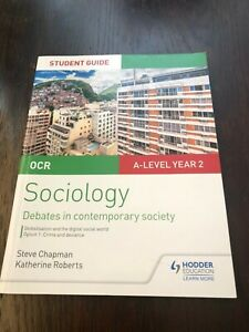 OCR Sociology ALevel Textbook Debates in contemporary society Crime and Deviance